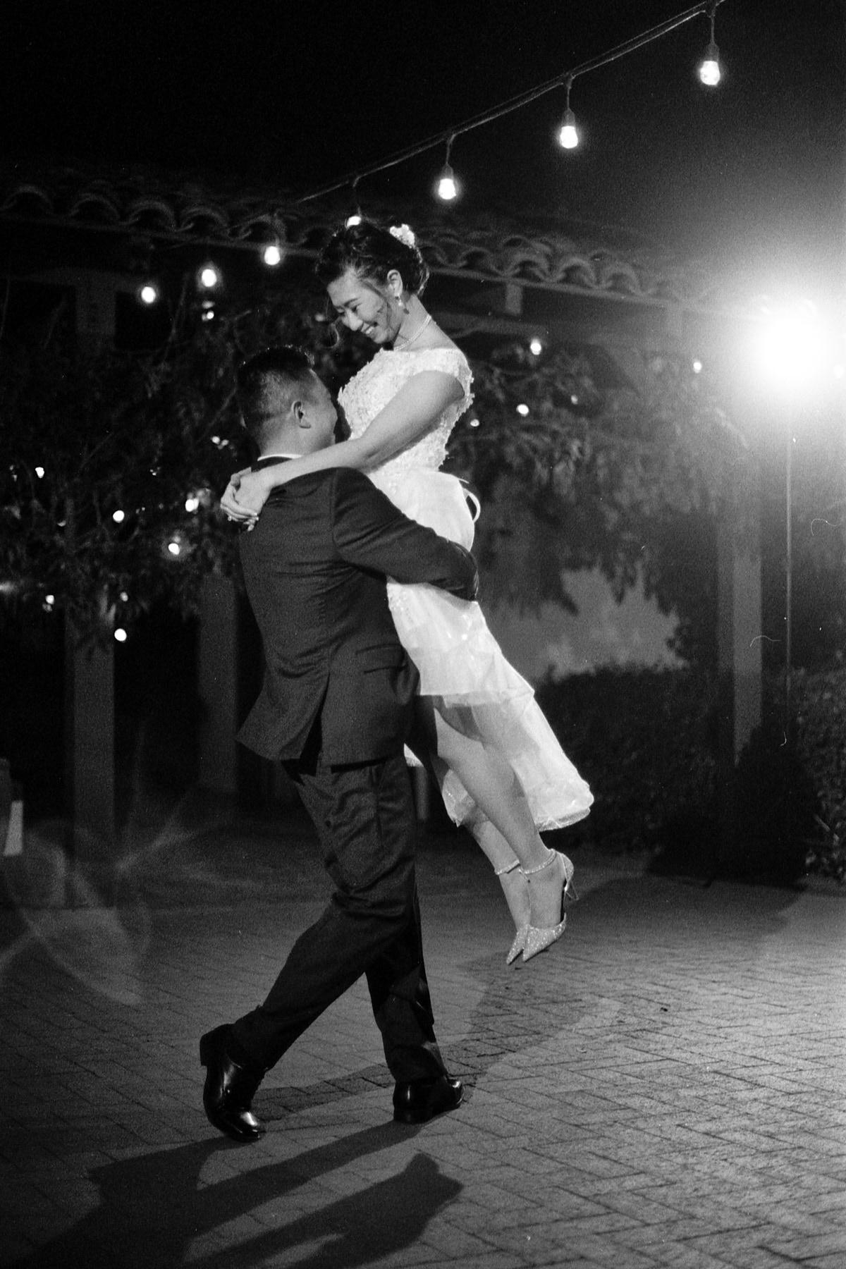 Quail Ranch black and white first dance Ilford HP5