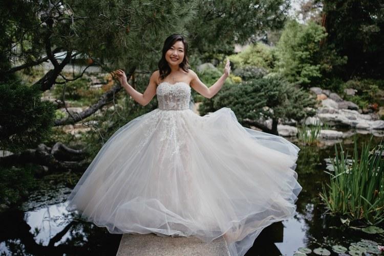 wedding bride storrier stearns japanese garden pasadena