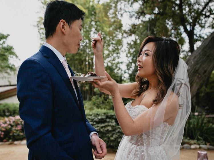 micro wedding portrait storrier stearns japanese garden pasadena