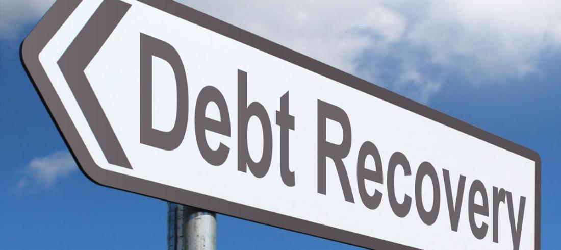 debt recovery sign