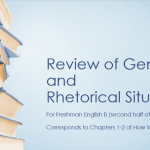Review of Genres & Rhetorical Situations