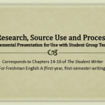 Research, Source Use and Process