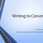 Writing to Convince