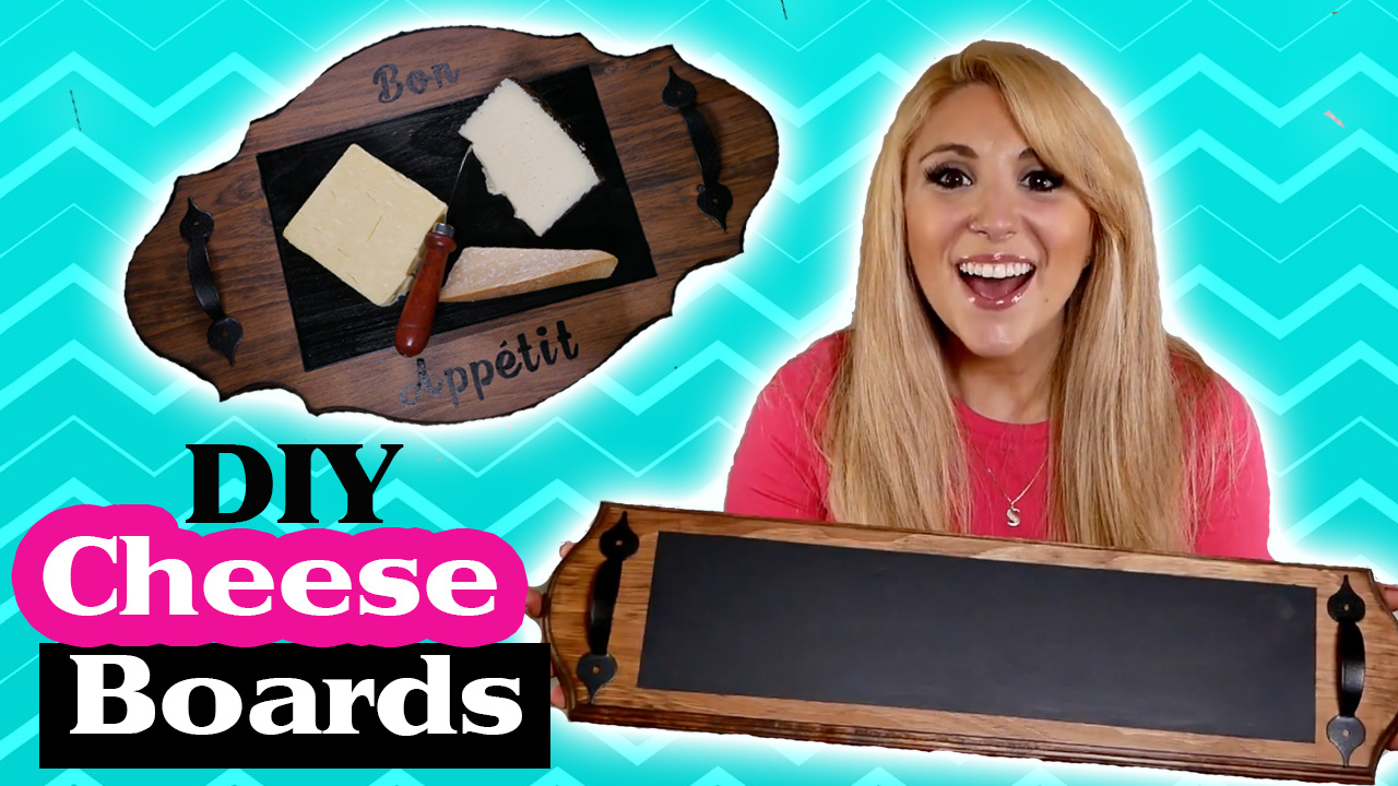 DIY Chalkboard Cheeseboards