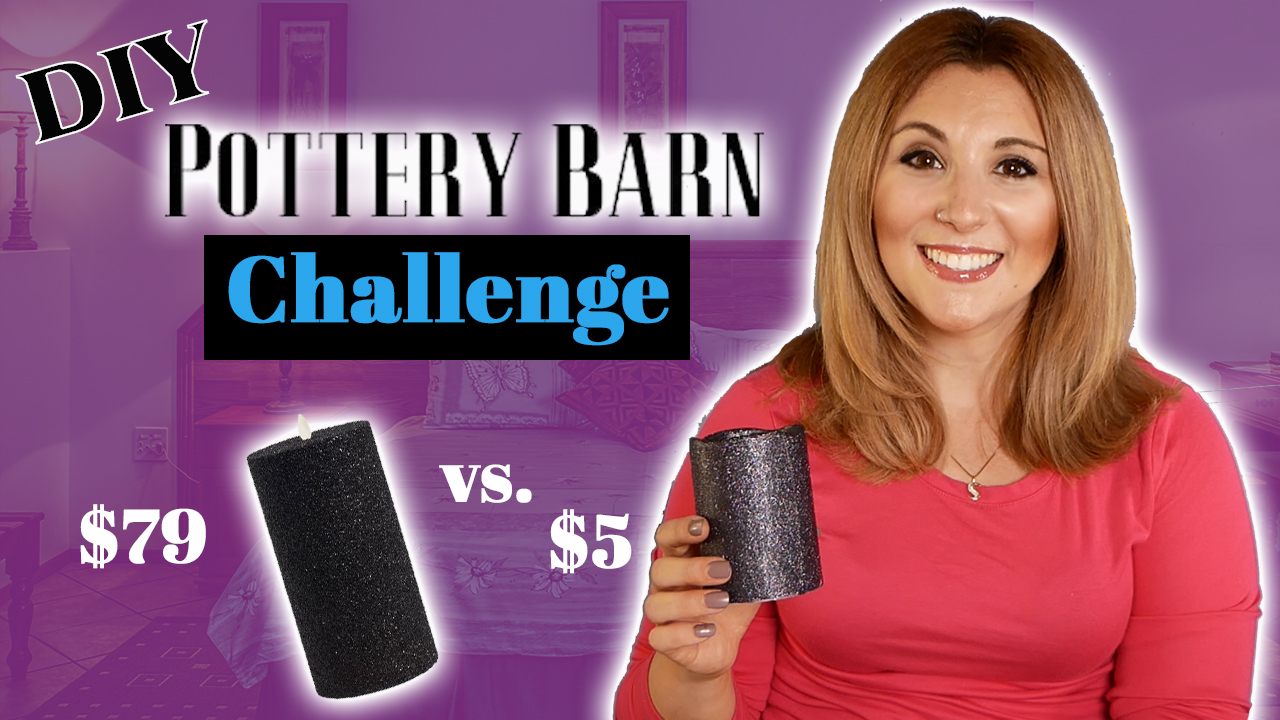 Pottery Barn Halloween Glitter Candle Challenge