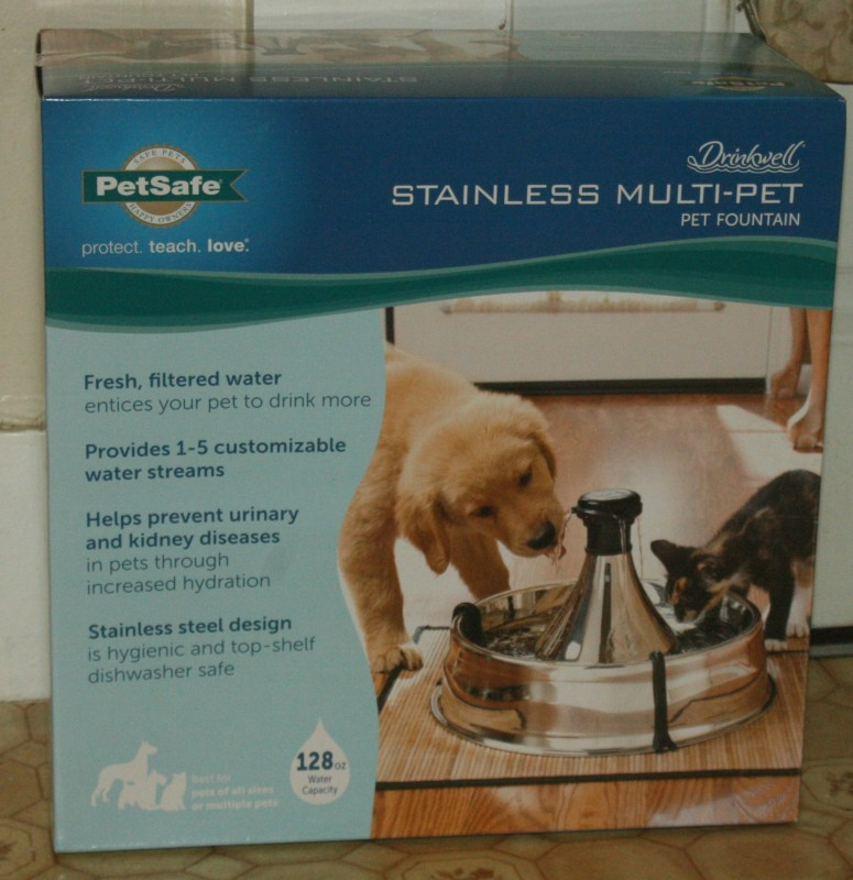 Chewy Influencer: Drinkwell 360 Stainless Steel Pet Fountain