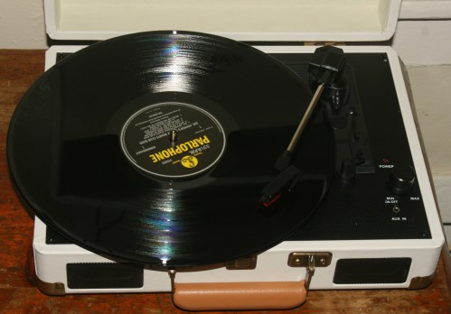 A Blast From The Past: Portable Suitcase Turntable with Built In Speakers from Feir.