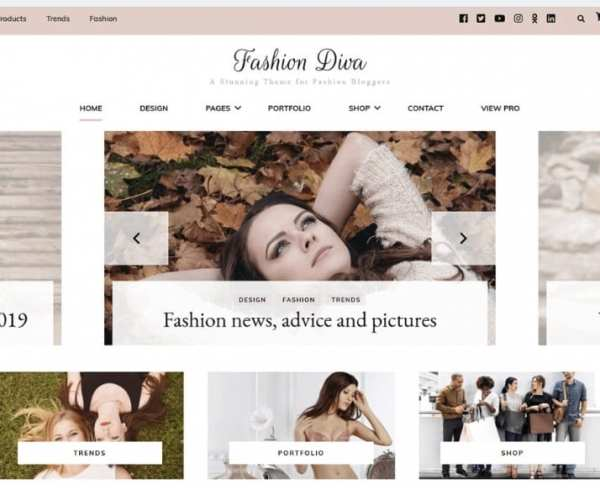 Fashion Diva Blossom Theme