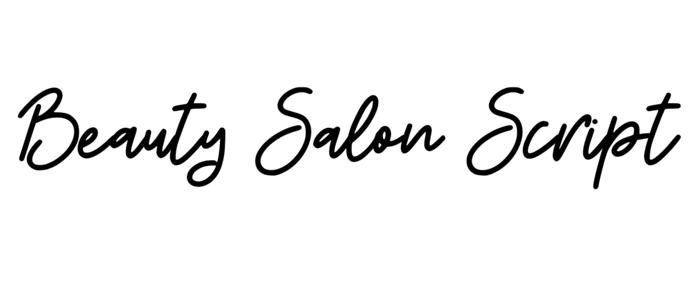 beauty salon script feminine font