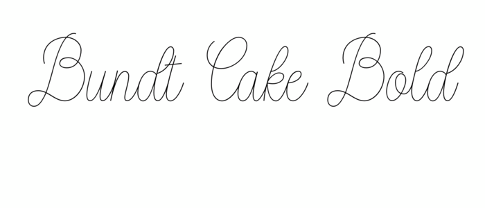 Bundt Cake Bold