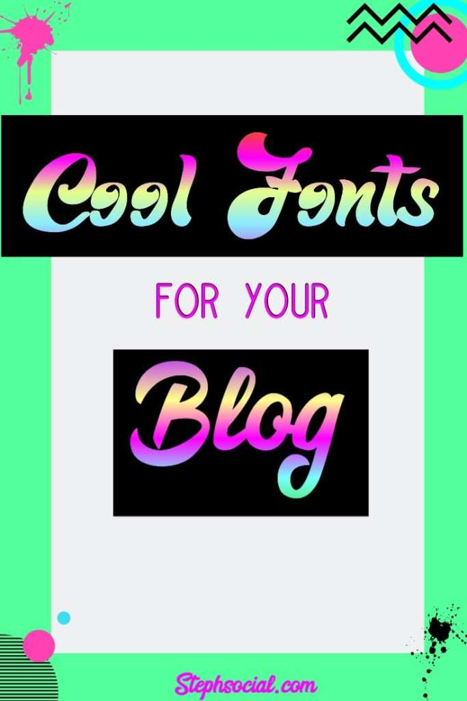 cool text fonts