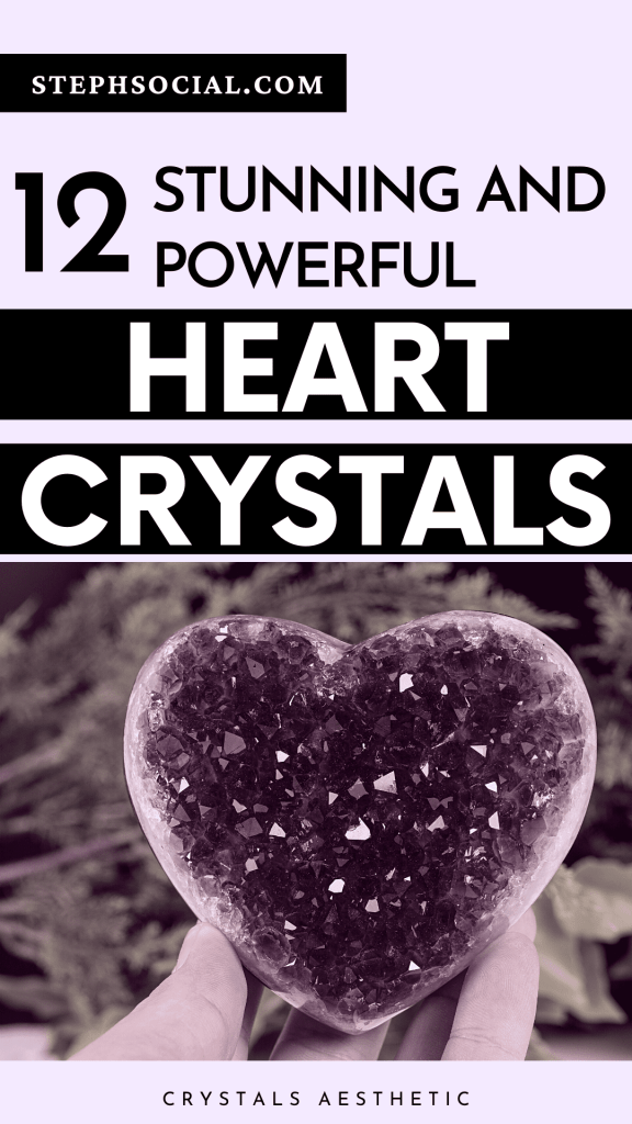 Beautiful Crystal hearts to bring peace, abundance and happiness!
