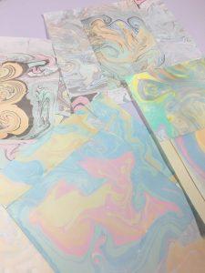 Handmade Marbled Paper