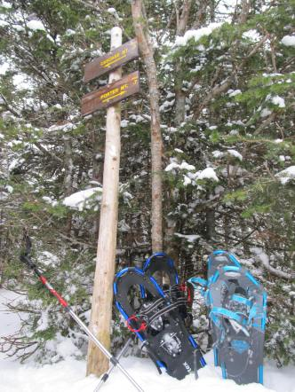 We left our snowshoes at the junction and headed up to Cascade with just our microspikes.
