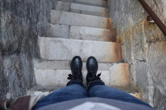 The steps are very narrow at times - as well as extremely smooth - so watch your step.