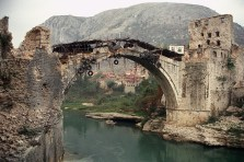 The Old Bridge during the war. (Photo credit unknown)