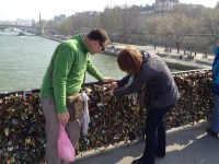 Unbeknownst to me, my partner-in-crime actually brought a lock from home for us to put on the bridge.