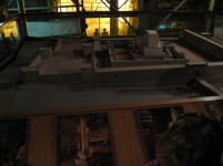 A scale model of the temple at the beginning of the tour of the tunnels to show us where we were and where we were going.