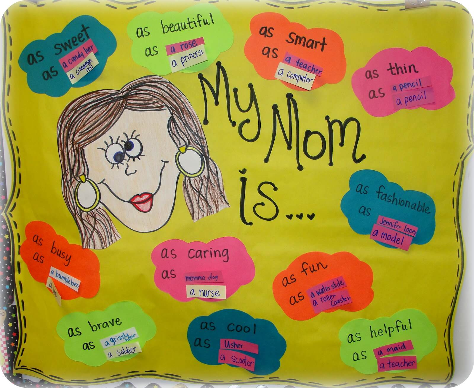 Mother S Day Project Turned Simile Lesson