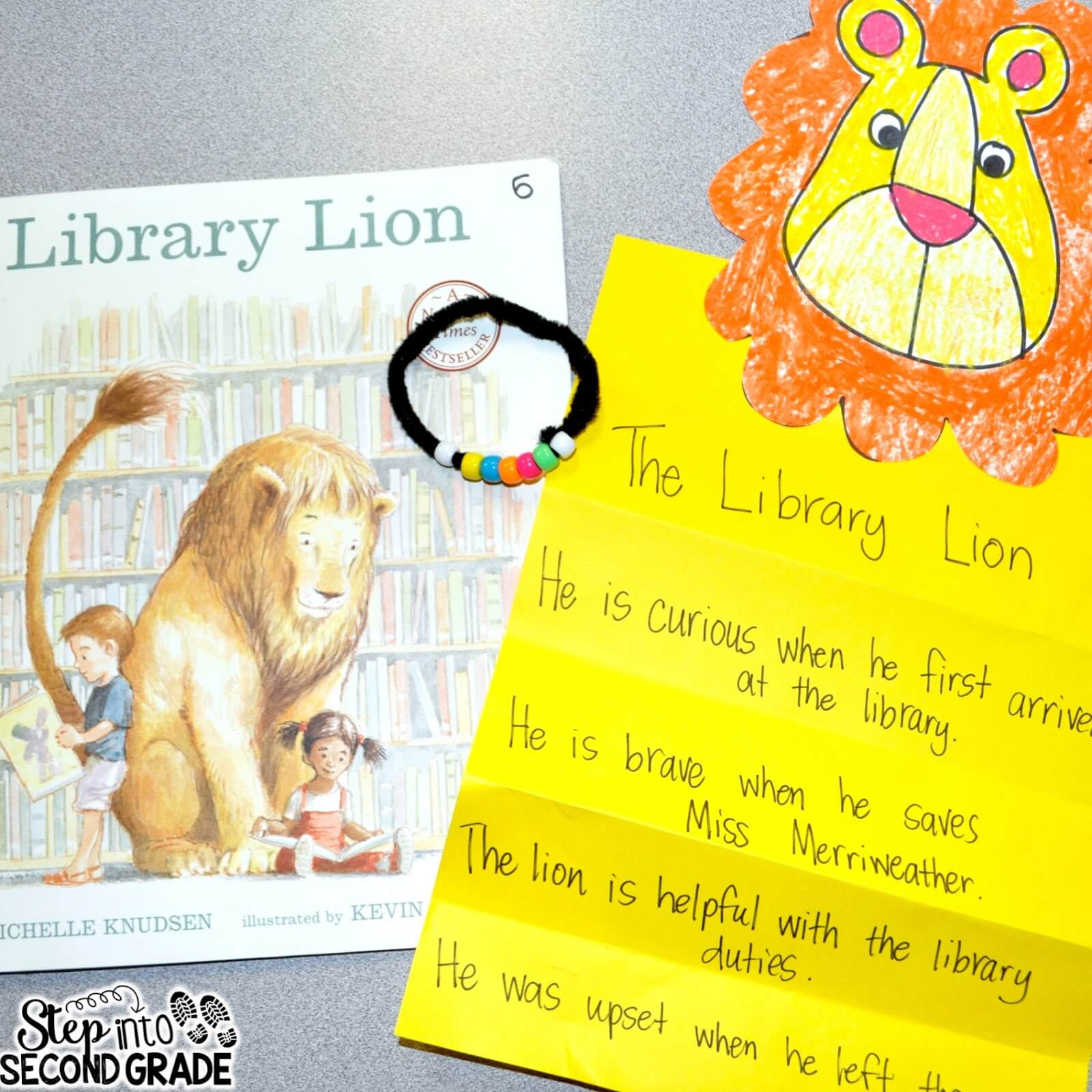 Library Lion With Character Traits
