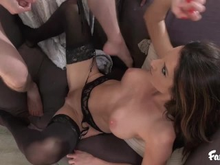 Busty MILF Mom Fucks Her Stepson to Help Him Deal