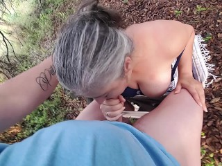 HOT CHICK FUCKS A RANDOM HIKER IN TEXAS AND TAKES