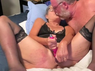 Mature Milf Works Her Pussy With Big Dildo Three