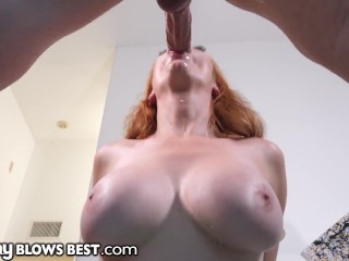 Sexy Redhead Stepmom Knows How To Convince Son To