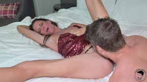 Cuckold rimjob creampie with HOT stepmom