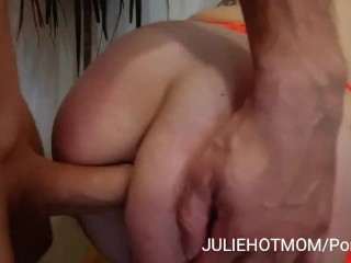 Acrobatic fuck  After deep anal sex my stepmom
