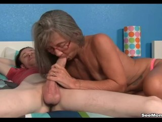 Milf Empties Stepsons Balls Sucking His Thick