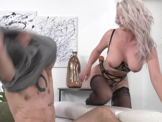 Busty Blonde MILF Gets The Hard Cock She Needs