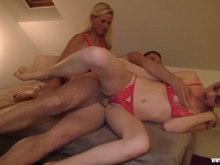 Fucking threesome with my Stepdaughter and a