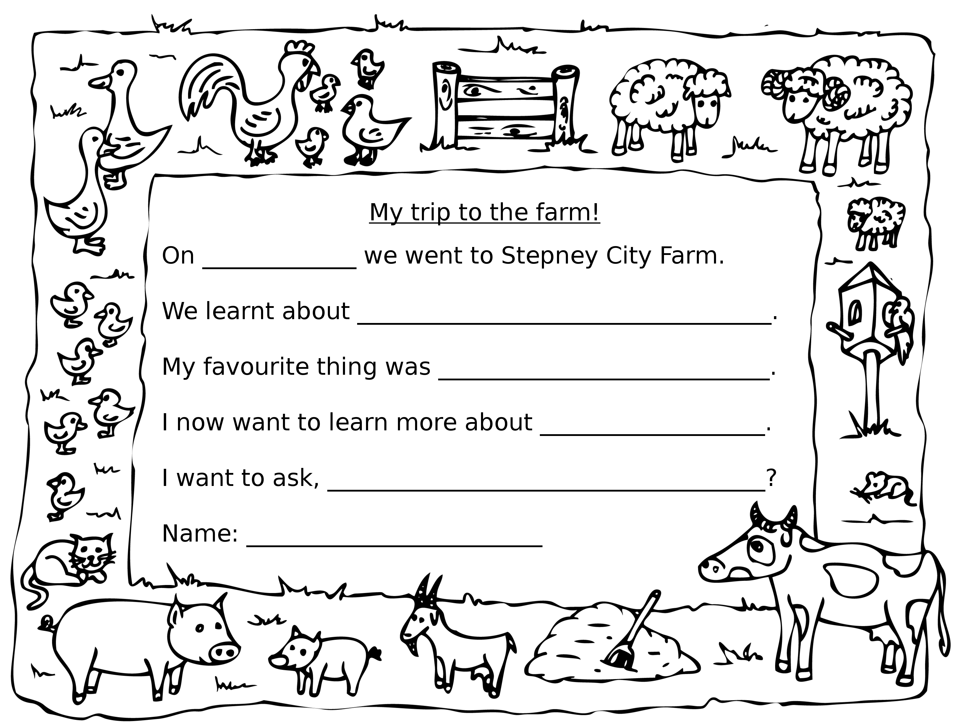 Farm Homework Ks1