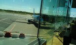 My Estonian Air flight to Kyiv (Photo by Andy Kozlov)