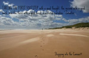 taking the first footstep