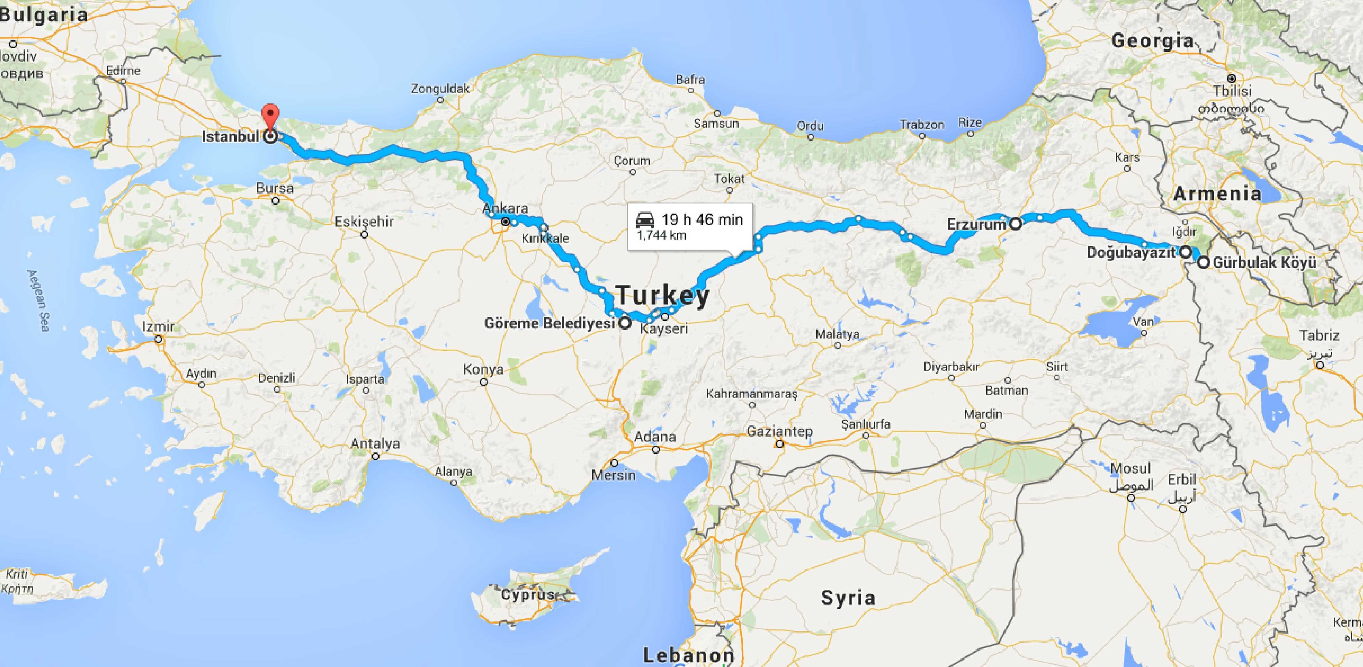 15 days in Turkey: maps, costs and itinerary
