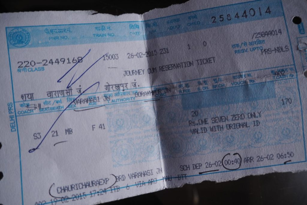 Train ticket from Varanasi to Gorakhpur