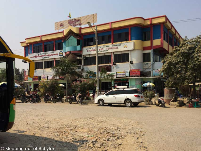Pyi Gyi Myat Shin Bus Terminal at Mandalay
