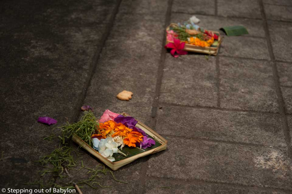Offerings that can be find every where, streets and houses