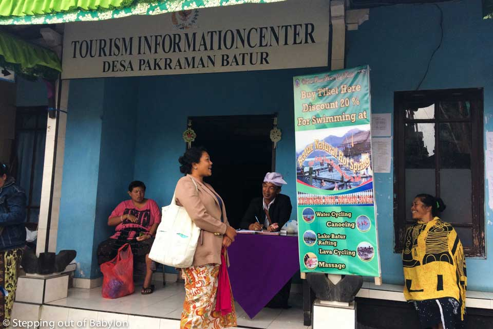Ticket counter for foreigners at Pura Ulun Danu Batur