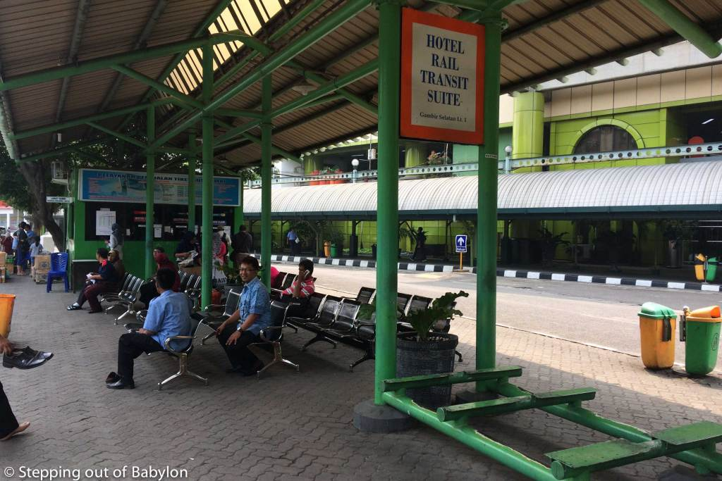 The buses departure from Gambir station just next to Gambir Terminal (train station)
