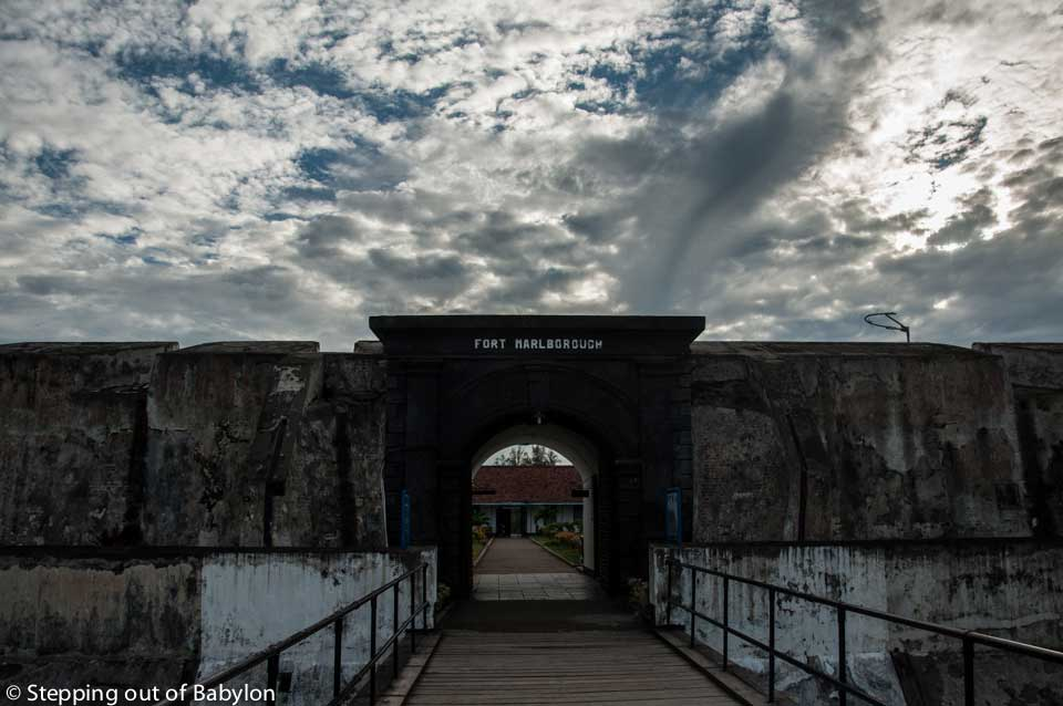 Fort Marlborough left by the British presence at Sumatra