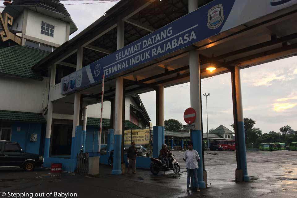 Terminal Rasabaja from where departure the buses to Krui