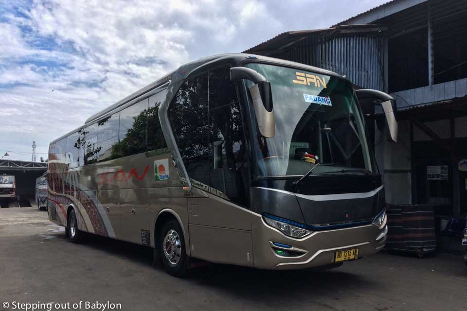 San travel bus to Padang... this company has good quality buses