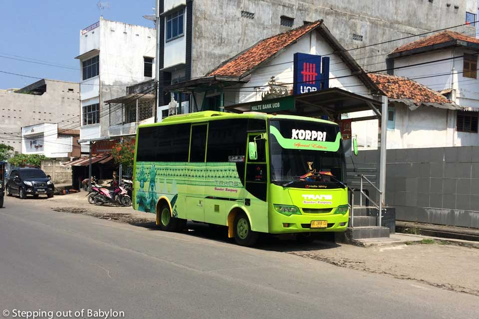 How to more around Bandar Lampung: buses to go far as the Terminal Rajabasa