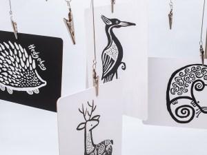 Cartões animais do bosque