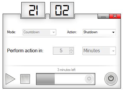 Sleep Timer Anwendungsbeispiel