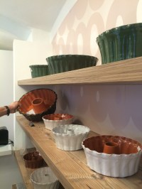 The massive ceramic dishes that the potica are baked in.