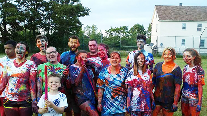 Youth Group After Paint War